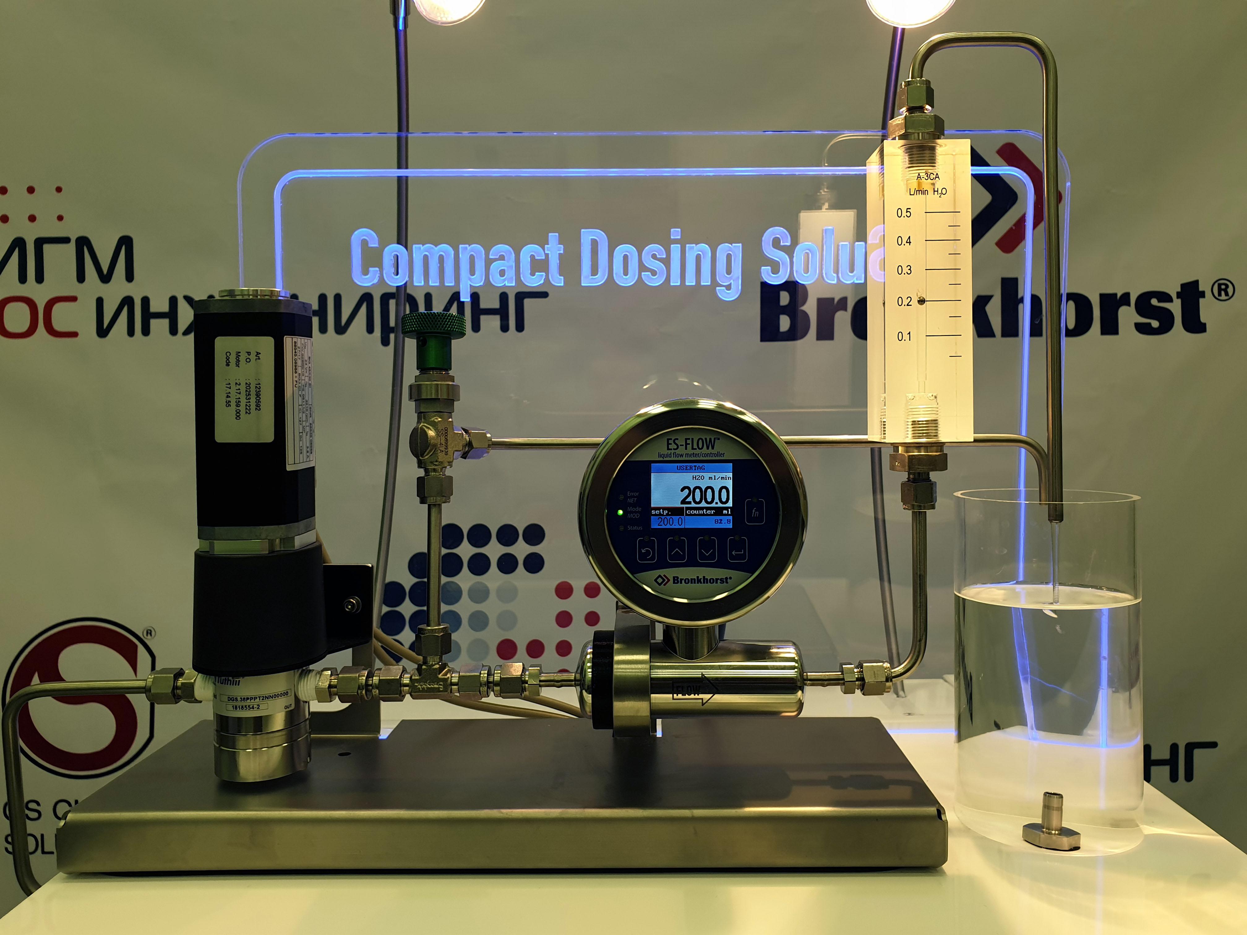 Стенд дозирования жидкости по объему на основе ультразвукового расходомера ES-FLOW